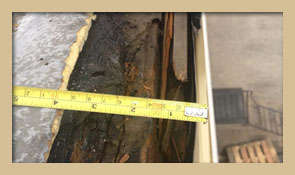 During roofing inspection it was determined that the existing wood nailer was rotten.